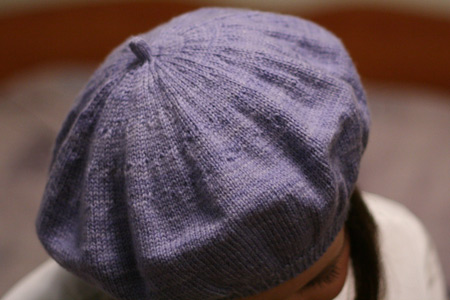 Free Knitting Pattern Beret Straight Needles : Periwinkle beret Grumperina