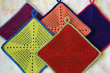 Crocheted Pot Holder Patterns Nemiri