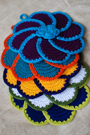 Crochet Pattern: Watermelon Potholder
