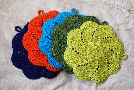 Crochet Cotton Potholder Pattern Free Crochet Patterns