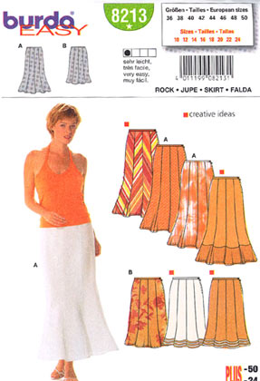 8213 Burda Skirt Patterns